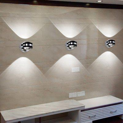AC85-265 Mini Style LED Integrated Ambient Light Wall Sconces for BedroomWall Lights<br>AC85-265 Mini Style LED Integrated Ambient Light Wall Sconces for Bedroom<br><br>Bulb Base: LED Integrated<br>Bulb Included: Yes<br>Color Temperature or Wavelength: 6000 - 6500k<br>Decoration Material: PVC<br>Finish: Aluminum<br>Fixture Material: Aluminum<br>Light Direction: Ambient Light<br>Light Source Color: White<br>Number of Bulbs: 2<br>Overall Depth ( CM ): 7.5<br>Overall Height ( CM ): 10<br>Overall Width ( CM ): 7.5<br>Package Contents: 1 x Wall Light<br>Package size (L x W x H): 11.00 x 8.00 x 8.00 cm / 4.33 x 3.15 x 3.15 inches<br>Package weight: 0.3000 kg<br>Product size (L x W x H): 10.00 x 7.50 x 7.50 cm / 3.94 x 2.95 x 2.95 inches<br>Product weight: 0.2500 kg<br>Production Mode: Self-produce<br>Shade Material: PVC<br>Style: Simple, Novelty, Modern/Contemporary<br>Type: Wall Sconces<br>Voltage: AC85-265V<br>Wattage: 2W<br>Wattage per Bulb ( W ): 1