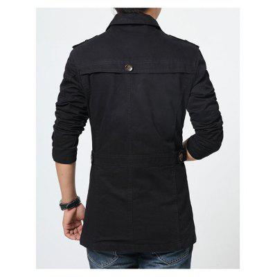 NIANJEEP Turn-down Collar Button Fitted JacketMens Jackets &amp; Coats<br>NIANJEEP Turn-down Collar Button Fitted Jacket<br><br>Brand: NIANJEEP<br>Closure Type: Single Breasted<br>Clothes Type: Jackets<br>Collar: Turn-down Collar<br>Embellishment: Others,Stitching<br>Materials: Polyester<br>Occasion: Daily Use, Work, Holiday, Going Out<br>Package Content: 1 x Jacket<br>Package Dimension: 35.00 x 25.00 x 2.00 cm / 13.78 x 9.84 x 0.79 inches<br>Package weight: 0.9700 kg<br>Pattern Type: Solid<br>Product weight: 0.9500 kg<br>Seasons: Autumn,Spring<br>Shirt Length: Regular<br>Sleeve Length: Long Sleeves<br>Style: Casual<br>Thickness: Medium thickness