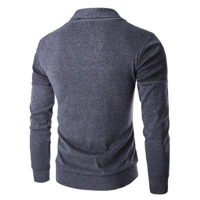 Turn-down Collar Solid Color Knitted SweaterMens Sweaters &amp; Cardigans<br>Turn-down Collar Solid Color Knitted Sweater<br><br>Material: Cotton Blends, Polyester<br>Occasion: Going Out, Daily Use, Casual<br>Package Contents: 1 x Sweater<br>Package size: 35.00 x 25.00 x 2.00 cm / 13.78 x 9.84 x 0.79 inches<br>Package weight: 0.4200 kg<br>Pattern: Solid Color<br>Product weight: 0.4000 kg<br>Style: Casual