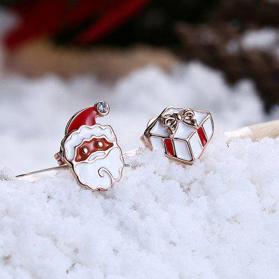 Cute Zinc Alloy Christmas Box Santa Claus Women EarringsEarrings<br>Cute Zinc Alloy Christmas Box Santa Claus Women Earrings<br><br>Package Contents: 1 x Pair of Earrings<br>Package size (L x W x H): 6.00 x 6.00 x 4.00 cm / 2.36 x 2.36 x 1.57 inches<br>Package weight: 0.0225 kg<br>Product weight: 0.0025 kg<br>Style: Cute, Fashion<br>Type: Earrings