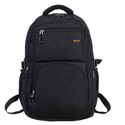 Buy BLACK Men Minimalist Solid Color Nylon Laptop Backpack for $23.20 in GearBest store
