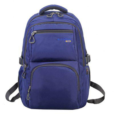 Buy BLUE Men Minimalist Solid Color Nylon Laptop Backpack for $23.20 in GearBest store