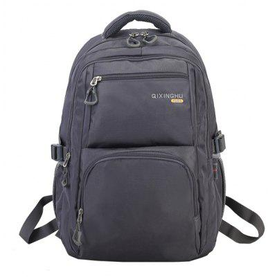 Buy GRAY Men Minimalist Solid Color Nylon Laptop Backpack for $23.20 in GearBest store