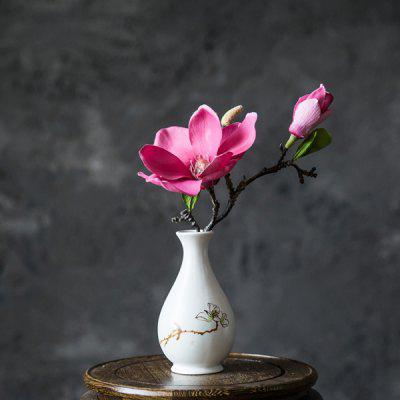 Home Decor Artificial Flower with Metal Vase