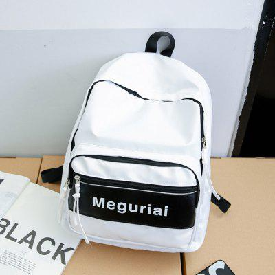 Buy WHITE Men Trendy Printed Splicing Nylon Backpack for $18.28 in GearBest store