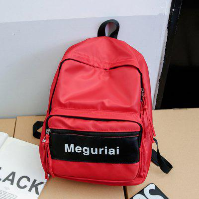 Buy RED Men Trendy Printed Splicing Nylon Backpack for $18.28 in GearBest store