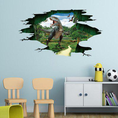 Creative D Effect DIY Removable Dinosaur Paradise Wall Sticker - 3d effect wall decals