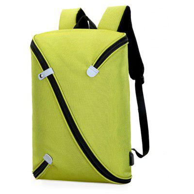 Buy GREEN Trendy Novel Laptop Backpack with USB Port for $37.79 in GearBest store