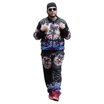 Male Plus Size Trendy Stand-up Collar Printing JacketMens Jackets &amp; Coats<br>Male Plus Size Trendy Stand-up Collar Printing Jacket<br><br>Closure Type: Zipper<br>Clothes Type: Jackets<br>Collar: Stand-Up Collar<br>Embellishment: Printing<br>Materials: Polyester, Spandex<br>Occasion: Daily Use<br>Package Content: 1 x Jacket<br>Package Dimension: 41.00 x 0.10 x 34.00 cm / 16.14 x 0.04 x 13.39 inches<br>Package weight: 0.8500 kg<br>Pattern Type: Print<br>Product weight: 0.8200 kg<br>Seasons: Autumn,Winter<br>Shirt Length: Regular<br>Sleeve Length: Long Sleeves<br>Style: Casual, Fashion<br>Thickness: Medium thickness