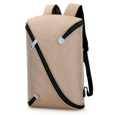 Buy KHAKI Trendy Novel Laptop Backpack with USB Port for $37.79 in GearBest store