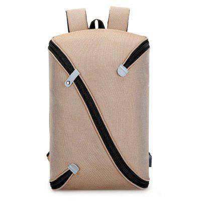 Trendy Novel Laptop Backpack with USB PortBackpacks<br>Trendy Novel Laptop Backpack with USB Port<br><br>Closure Type: Zip<br>Features: Wearable<br>For: Shopping, Daily Use<br>Gender: Men<br>Material: Polyester, Nylon<br>Package Size(L x W x H): 33.00 x 2.00 x 45.00 cm / 12.99 x 0.79 x 17.72 inches<br>Package weight: 0.5700 kg<br>Packing List: 1 x Backpack<br>Product weight: 0.5600 kg<br>Style: Novelty, Fashion<br>Type: Backpacks