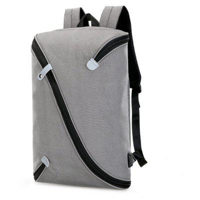 Buy GRAY Trendy Novel Laptop Backpack with USB Port for $37.79 in GearBest store