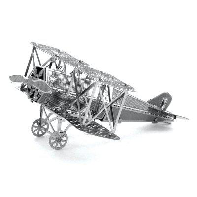 3D Metal Bulmaca Biplane Fighter Model Toy