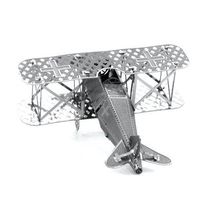 3D Metal Puzzle Biplane Fighter Model Toy