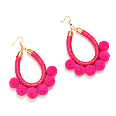 Stylish Leather Rope Ball Women EarringsEarrings<br>Stylish Leather Rope Ball Women Earrings<br><br>Package Contents: 1 x Pair of Earrings<br>Package size (L x W x H): 11.00 x 8.00 x 2.10 cm / 4.33 x 3.15 x 0.83 inches<br>Package weight: 0.0330 kg<br>Product weight: 0.0110 kg<br>Style: Fashion<br>Type: Earrings