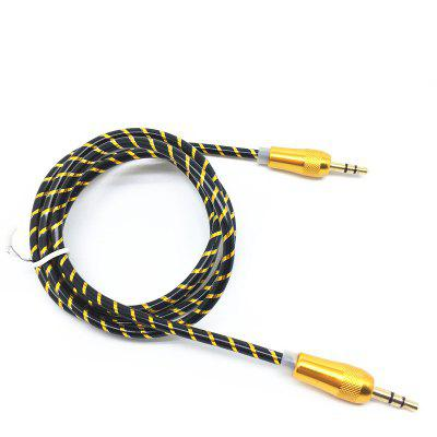 Buy GOLDEN Gold-plated Auxiliary Audio Cable 3.5mm Jack Male to Male for $1.13 in GearBest store