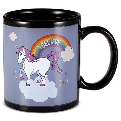 Gearbest Ceramic Unicorn Heat Sensitive Mug Rainbow Color Changing Cup