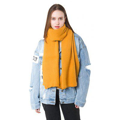Buy YELLOW Solid Color Keep Warm Thicken Scarf for Women for $16.43 in GearBest store