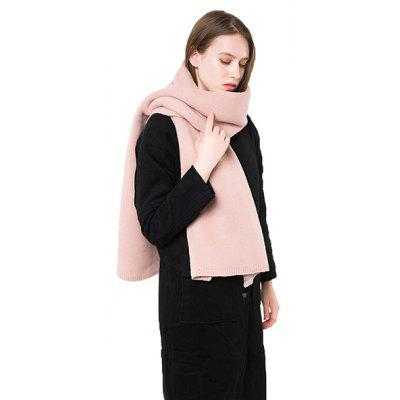 Buy PINK Solid Color Keep Warm Thicken Scarf for Women for $16.43 in GearBest store