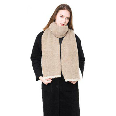 Buy KHAKI Solid Color Keep Warm Thicken Scarf for Women for $16.43 in GearBest store