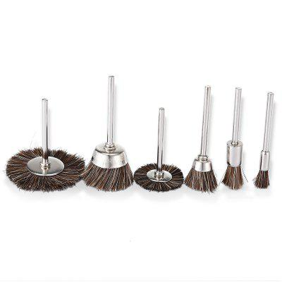 Buy SILVER AND BROWN Horse Mane Brushes Rotary Tools Polishing Accessories 6PCS for $3.61 in GearBest store