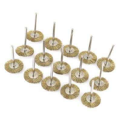 Buy GOLDEN Copper Wire Brushes Flat Shape Polishing Rotary Tools 15PCS for $5.68 in GearBest store