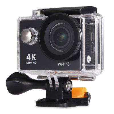 H9 Ultra HD 4K Action CameraAction Cameras<br>H9 Ultra HD 4K Action Camera<br><br>Aerial Photography: No<br>Anti-shake: No<br>Auto Focusing: No<br>Battery Type: Removable<br>Camera Pixel: 4.0 megapixel<br>Camera Timer: No<br>Capacity: 1050mAh<br>Charge way: USB charge by PC<br>Chipset: Sunplus 6350<br>Chipset Name: Sunplus<br>Class Rating Requirements: Class 10 or Above<br>Decode Format: H.264<br>Exposure Compensation: +0.3,+0.7,+1,+1.3,+1.7,+2,-0.3,-0.7,-1,-1.3,-1.7,-2,0<br>Frequency: 50Hz,60Hz,Auto<br>HDMI Output: Yes<br>Image Format: JPEG<br>Language: Cesky,Dutch,English,French,German,Italian,Japanese,Korean,Polski,Portuguese,Russian,Spanish,Thai,Traditional Chinese,Turkish<br>Loop-cycle Recording: Yes<br>Loop-cycle Recording Time: 15min,OFF<br>Max External Card Supported: TF 64G (not included)<br>Microphone: N/A<br>Model: H9<br>Night vision: No<br>Package Contents: 1 x H9 4K Action Camera, 1 x Waterproof Housing, 1 x Handlebar Pole Mount, 1 x Base Mount with Long Screw, 1 x J-Shaped Mount, 1 x Tripod Mount Adapter, 3 x Connector with Screw, 1 x Mount Adapter, 1<br>Package size (L x W x H): 27.00 x 18.00 x 7.00 cm / 10.63 x 7.09 x 2.76 inches<br>Package weight: 0.5700 kg<br>Product size (L x W x H): 6.00 x 3.20 x 4.10 cm / 2.36 x 1.26 x 1.61 inches<br>Product weight: 0.0650 kg<br>Scene: Auto<br>Screen resolution: 320x240<br>Screen size: 2.0inch<br>Screen type: LCD<br>Time lapse: Yes<br>Time Stamp: Yes<br>Type: Sports Camera<br>Video format: MOV<br>Video Output: HDMI<br>Video Resolution: 1080P (1920 x 1080),2.7K (2704 x 1524),4K (4096 x 2160)<br>Water Resistant: 30m underwater<br>Waterproof: Yes<br>White Balance Mode: Auto<br>Wide Angle: 170 degree wide angle<br>WIFI: Yes<br>WiFi Distance: 10m<br>WiFi Function: Image Transmission,Remote Control,Settings,Sync and Sharing Albums<br>Working Time: 1.5 hours (1080P at 30fps), 1 hour (1080P at 60fps), 40 minutes (4K at 10fps)