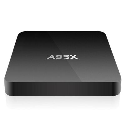 A95X - B7N Dolby Digital Receiver TV BoxTV Box<br>A95X - B7N Dolby Digital Receiver TV Box<br><br>5G WiFi: No<br>Audio format: HD, WMA, FLAC, WAV, TrueHD, OGG, AAC, AC3, APE, DDP, DTS, MP3<br>Bluetooth: Bluetooth4.0<br>Color: Black<br>Core: 2.0GHz<br>CPU: Amlogic S905X<br>Decoder Format: HD MPEG1/2/4, RealVideo8/9/10, Xvid/DivX3/4/5/6, HD AVC/VC-1, H.265, H.264, RM/RMVB<br>DVD Support: No<br>External Subtitle Supported: No<br>GPU: Mali-450 MP<br>HDMI Version: 2.0<br>Interface: TF card, SPDIF, USB2.0, RJ45, LAN, HDMI, DC Power Port, AV<br>Language: Danish,English,Finnish,Japanese,Korean,Serbian language,Simplified Chinese,Traditional Chinese<br>Maximum External Hard Drives Capacity: 500GB<br>Model: A95X - B7N<br>Other Functions: Others<br>Package Contents: 1 x A95X - B7N Android TV Box, 1 x Remote Control, 1 x HDMI Cable, 1 x Power Adapter, 1 x English Manual<br>Package size (L x W x H): 18.50 x 12.80 x 5.00 cm / 7.28 x 5.04 x 1.97 inches<br>Package weight: 0.3950 kg<br>Photo Format: JPEG, BMP, GIF, TIFF, PNG<br>Power Adapter Output: 5V 2A<br>Power Supply: Charge Adapter<br>Power Type: External Power Adapter Mode<br>Product size (L x W x H): 9.30 x 9.30 x 1.50 cm / 3.66 x 3.66 x 0.59 inches<br>Product weight: 0.0770 kg<br>RAM Type: DDR3<br>Support 5.1 Surround Sound Output: No<br>System: Android 6.0<br>System Bit: 64Bit<br>Type: TV Box<br>Video format: 4K x 2K, VP9, ASF, AVI, TS, RM, RMVB, MPG, MPEG, MP4, MOV, MKV, WMV, FLV, DAT, ISO<br>WIFI: 802.11b/g/n