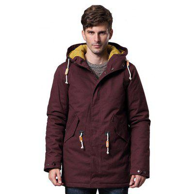 Male Simple Loose Casual engrosamiento largo Parkas