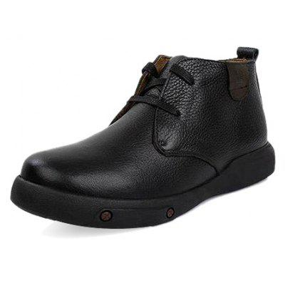 Male Quintessential Soft Warmest Ankle-top Boots