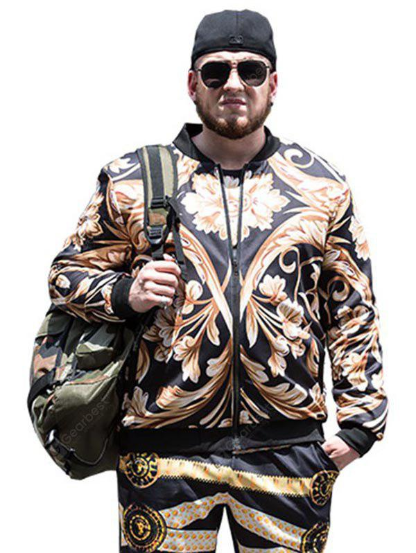COLORMIX 2XL Male Trendy Casual Digital Printing Zip up Jacket