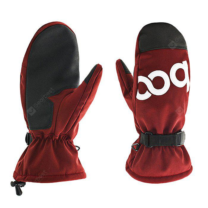 RED S Winter Keep Warm Outdoor Sports Gloves for Men