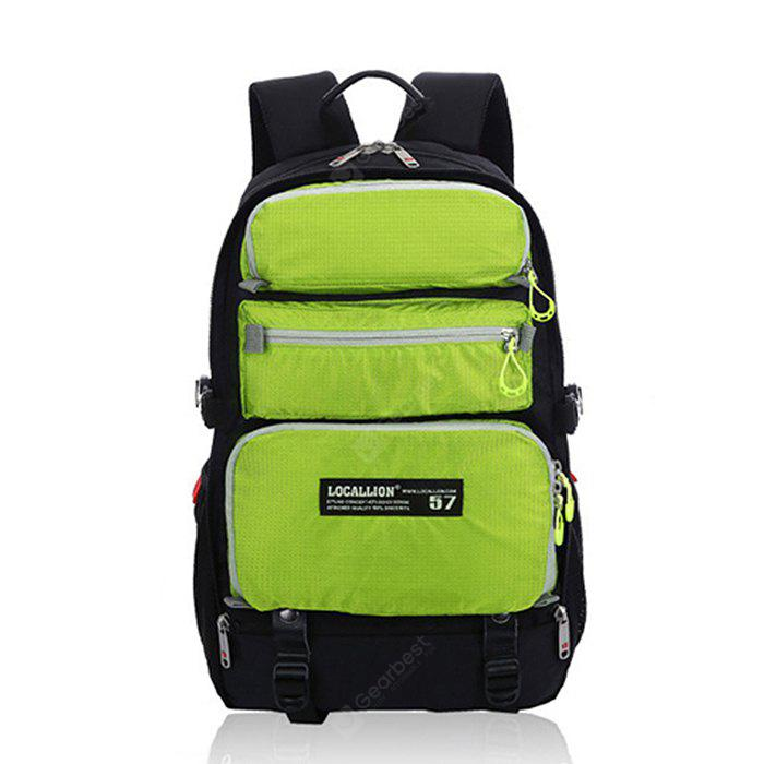 GREEN Outdoor Multifunctional Water-resistant Nylon Sports Backpack