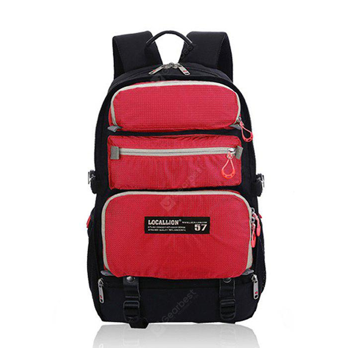 RED Outdoor Multifunctional Water-resistant Nylon Sports Backpack