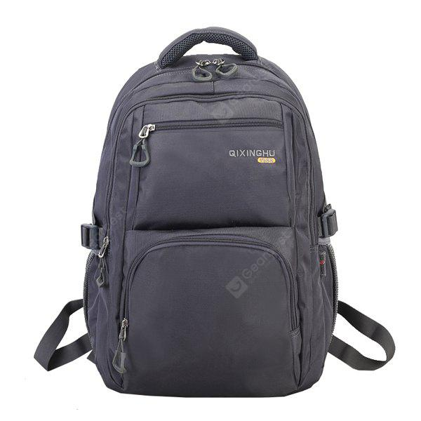 GRAY Men Minimalist Solid Color Nylon Laptop Backpack