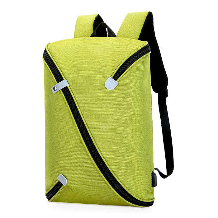 GREEN Trendy Novel Laptop Backpack with USB Port