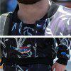 Male Stand-up Collar Thickening Flower Bird Printing Jacket - COLORMIX