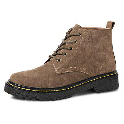 Female Trendy Breathable Soft High-top BootsWomens Boots<br>Female Trendy Breathable Soft High-top Boots<br><br>Closure Type: Lace-Up<br>Contents: 1 x Pair of Shoes, 1 x Box<br>Function: Slip Resistant<br>Lining Material: Plush<br>Materials: Rubber, Suede, Plush<br>Occasion: Tea Party, Shopping, Party, Holiday, Casual, Office, Daily, Dress, Formal<br>Outsole Material: Rubber<br>Package Size ( L x W x H ): 31.00 x 20.00 x 13.00 cm / 12.2 x 7.87 x 5.12 inches<br>Package Weights: 0.82kg<br>Pattern Type: Solid<br>Seasons: Autumn,Winter<br>Style: Modern, Leisure, Formal, Fashion, Comfortable, Casual, Business<br>Toe Shape: Round Toe<br>Type: Boots<br>Upper Material: Suede
