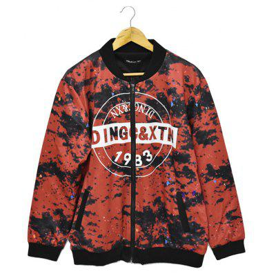 Loose Stand-up Collar Camouflage Printing Jacket for Men