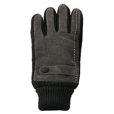 Men Leather Touch Screen Windproof Gloves