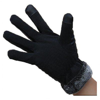 Men Touch Screen Windproof Anti-slide Gloves