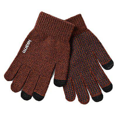 Knitted Keep Warm Thicken Touch Screen Gloves for Men