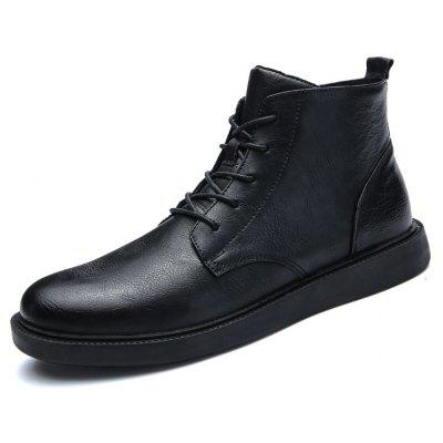 Male British Versatile Soft Ankle-top BootsMens Boots<br>Male British Versatile Soft Ankle-top Boots<br><br>Closure Type: Lace-Up<br>Contents: 1 x Pair of Shoes, 1 x Box, 1 x Dustproof Paper<br>Function: Slip Resistant<br>Materials: TPR, PU<br>Occasion: Tea Party, Shopping, Rainy Day, Party, Office, Holiday, Outdoor Clothing, Casual, Daily, Dress, Formal<br>Outsole Material: TPR<br>Package Size ( L x W x H ): 33.00 x 24.00 x 13.00 cm / 12.99 x 9.45 x 5.12 inches<br>Package Weights: 0.90kg<br>Pattern Type: Solid<br>Seasons: Autumn,Spring<br>Style: Formal, Leisure, Modern, Fashion, Comfortable, Business, Casual<br>Toe Shape: Round Toe<br>Type: Boots<br>Upper Material: PU