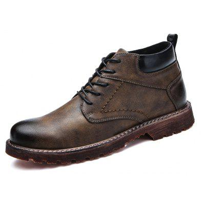 Male British Brush Toe Grained Ankle-top BootsMens Boots<br>Male British Brush Toe Grained Ankle-top Boots<br><br>Closure Type: Lace-Up<br>Contents: 1 x Pair of Shoes, 1 x Box, 1 x Dustproof Paper<br>Function: Slip Resistant<br>Materials: Rubber, PU<br>Occasion: Tea Party, Shopping, Office, Holiday, Dress, Daily, Casual, Party<br>Outsole Material: Rubber<br>Package Size ( L x W x H ): 33.00 x 24.00 x 13.00 cm / 12.99 x 9.45 x 5.12 inches<br>Package Weights: 0.90kg<br>Seasons: Autumn,Spring<br>Style: Modern, Leisure, Fashion, Comfortable, Casual, Business<br>Toe Shape: Round Toe<br>Type: Boots<br>Upper Material: PU