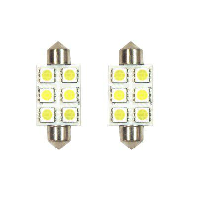 39mm Double Pointed 6 - 5050 LED Light for Reading 2PCS
