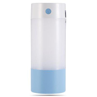 No.1 Mini Humidifier Bottle Shape USB LED NightlightAir Purifier<br>No.1 Mini Humidifier Bottle Shape USB LED Nightlight<br><br>Current (mA): 400mA<br>Package Contents: 1 x Humidifier, 2 x Cotton Strip, 1 x USB Power Cord, 1 x English and Chinese User Manual<br>Package size (L x W x H): 6.50 x 7.50 x 16.00 cm / 2.56 x 2.95 x 6.3 inches<br>Package weight: 0.1720 kg<br>Power (W): 2W<br>Product size (L x W x H): 6.00 x 6.00 x 15.00 cm / 2.36 x 2.36 x 5.91 inches<br>Product weight: 0.1170 kg<br>Voltage (V): DC 5V<br>Water Tank Capacity (ml): 250ml
