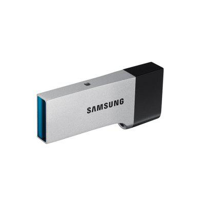 Samsung DOU USB 3.0 Flash Drive U DiskUSB Flash Drives<br>Samsung DOU USB 3.0 Flash Drive U Disk<br><br>Brand: SAMSUNG<br>Capacity: 64G<br>Compatible with: Android, Computer, Windows<br>Features: Metal<br>Interface: USB 3.0<br>Max. Read Speed: 130MB / s<br>Max. Write Speed: 30MB / s<br>Package Contents: 1 x Samsung Dou U Disk<br>Package size (L x W x H): 5.00 x 3.00 x 2.20 cm / 1.97 x 1.18 x 0.87 inches<br>Package weight: 0.0106 kg<br>Product size (L x W x H): 3.66 x 1.60 x 0.57 cm / 1.44 x 0.63 x 0.22 inches<br>Product weight: 0.0052 kg<br>Style: Unique<br>Type: USB Stick