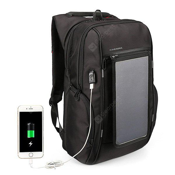 Water-resistant Solar Powered Backpack with USB Port
