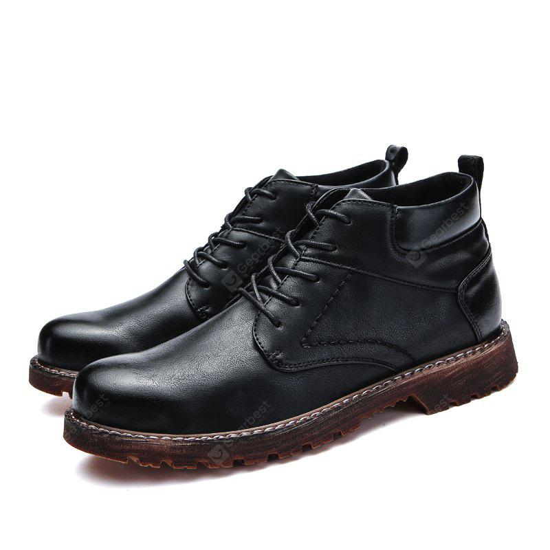 Male British Brush Toe Grained Ankle-top Boots