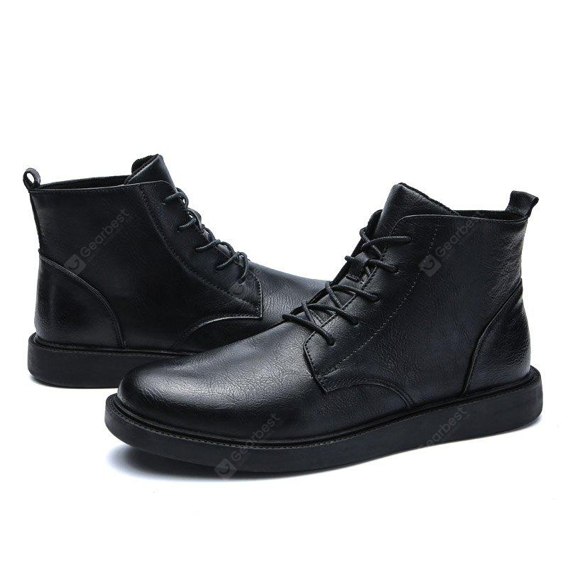 Male British Versatile Soft Ankle-top Boots